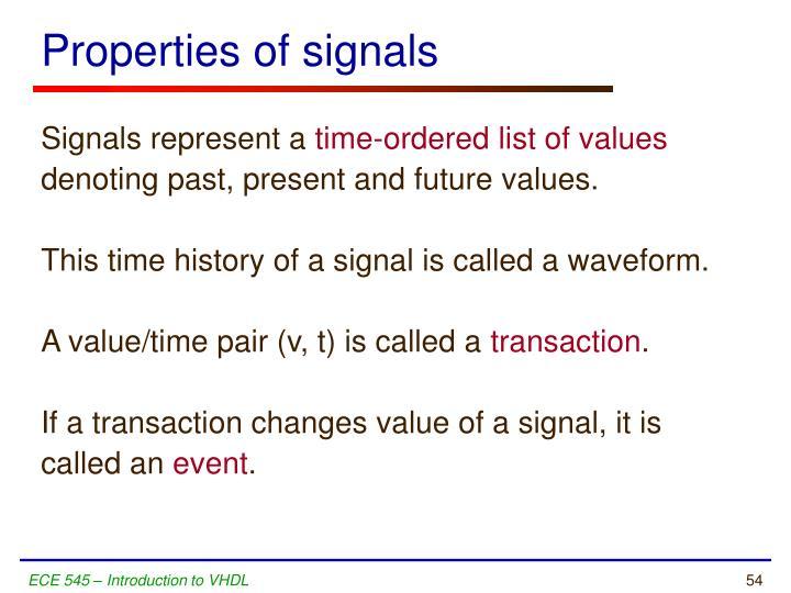Properties of signals