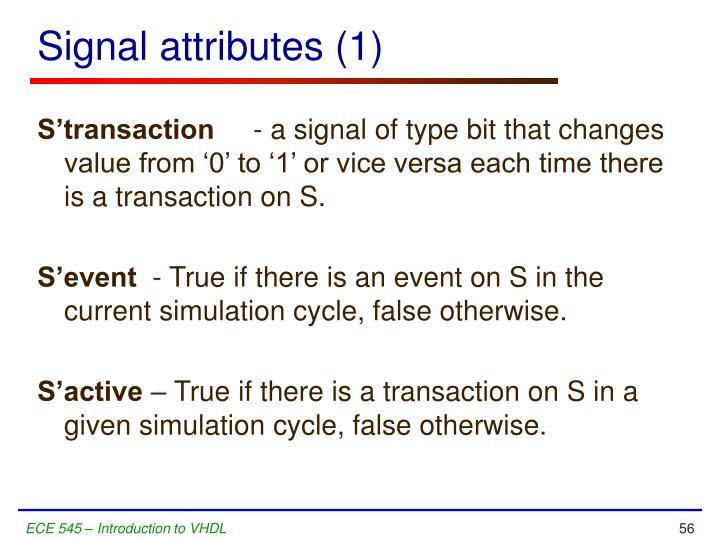 Signal attributes (1)