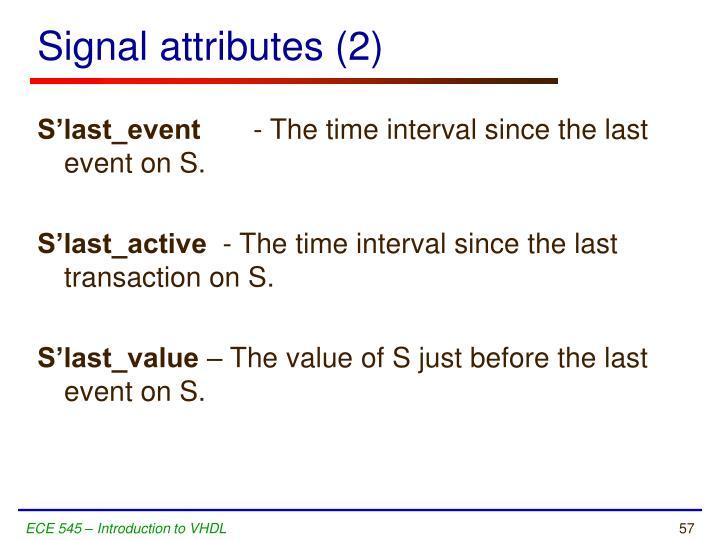 Signal attributes (2)