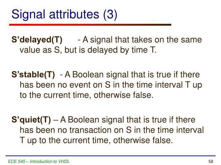 Signal attributes (3)