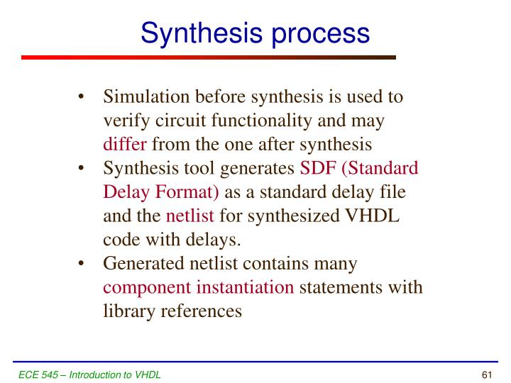 Synthesis process