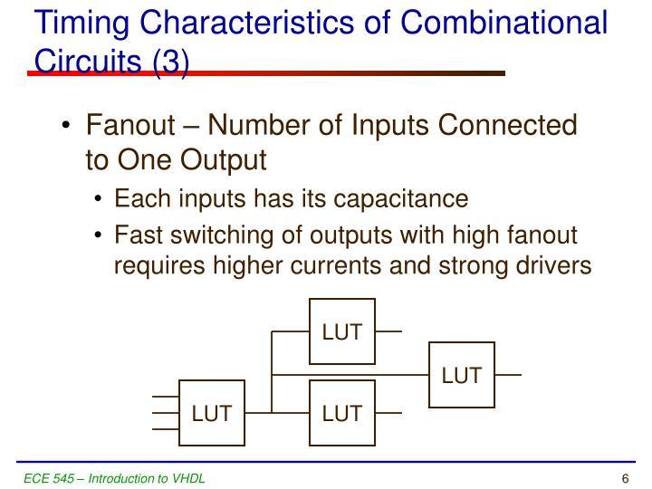 Timing Characteristics of Combinational Circuits (3)