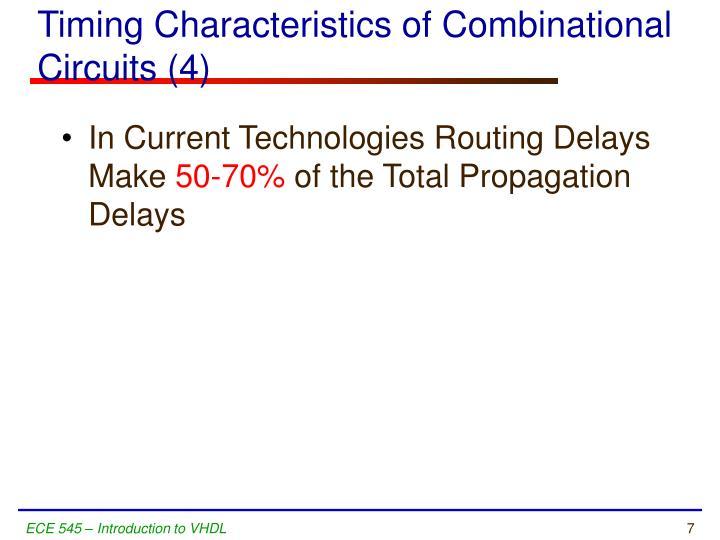 Timing Characteristics of Combinational Circuits (4)