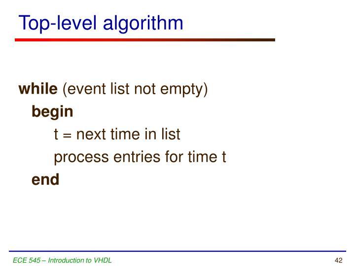 Top-level algorithm