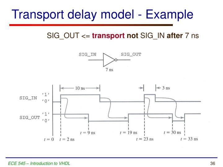 Transport delay model - Example