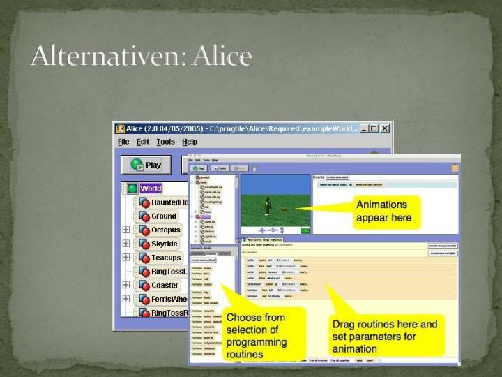 Alternativen: Alice