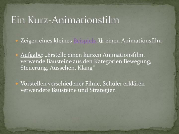 Ein Kurz-Animationsfilm