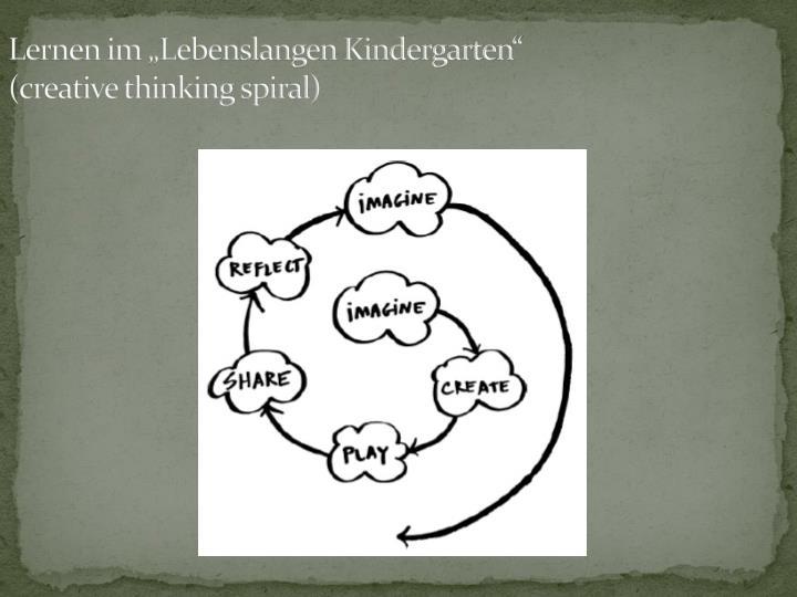 """Lernen im """"Lebenslangen Kindergarten"""""""