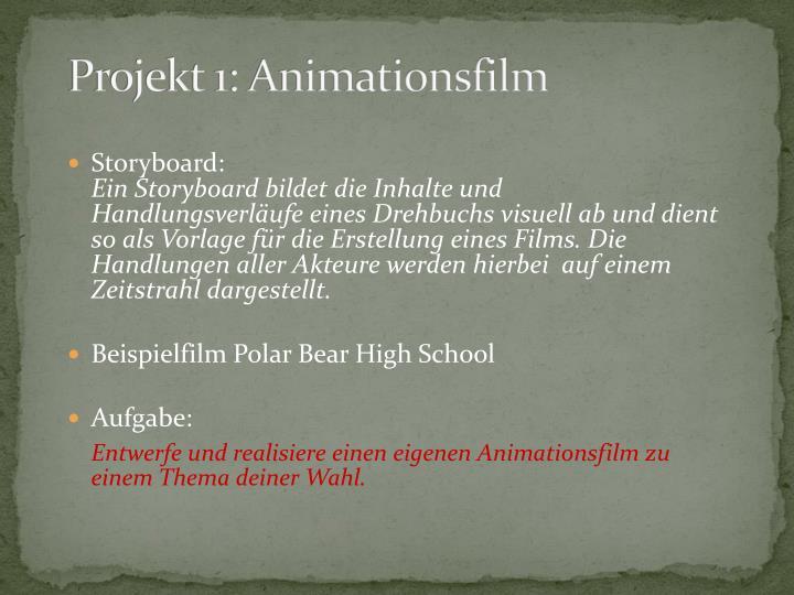 Projekt 1: Animationsfilm