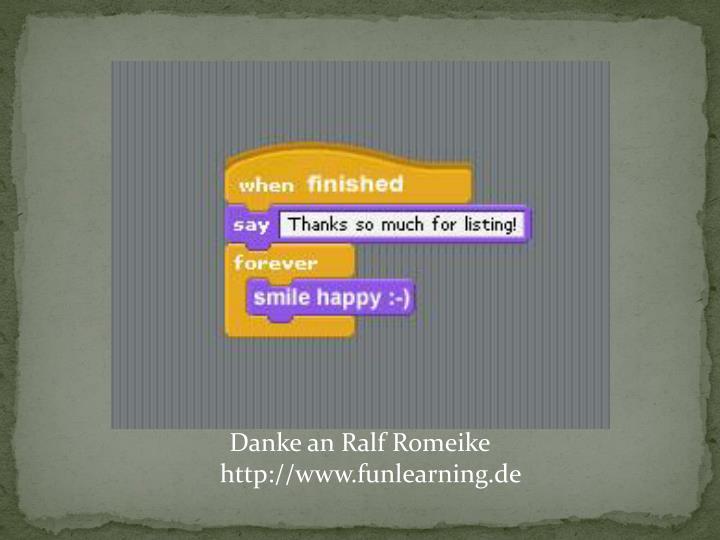 Danke an Ralf Romeike