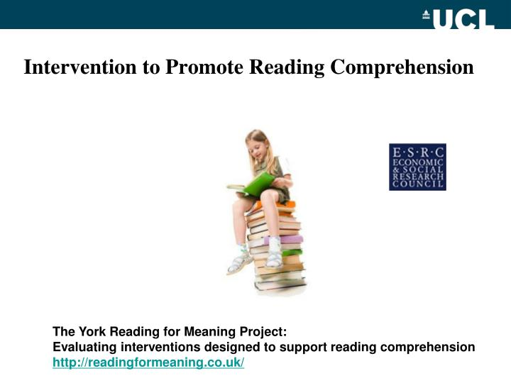 Intervention to Promote Reading Comprehension