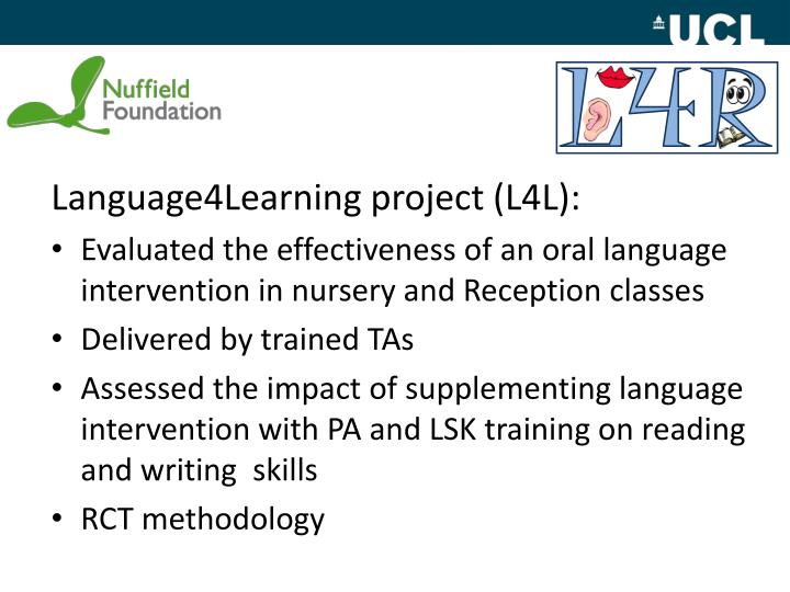 Language4Learning project (L4L):