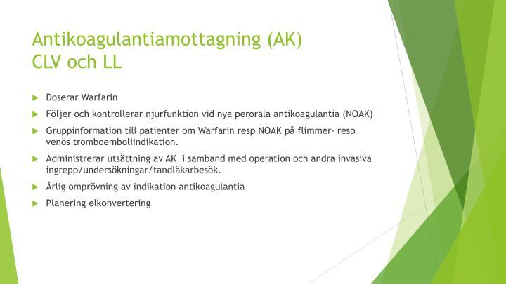 Antikoagulantiamottagning (AK)