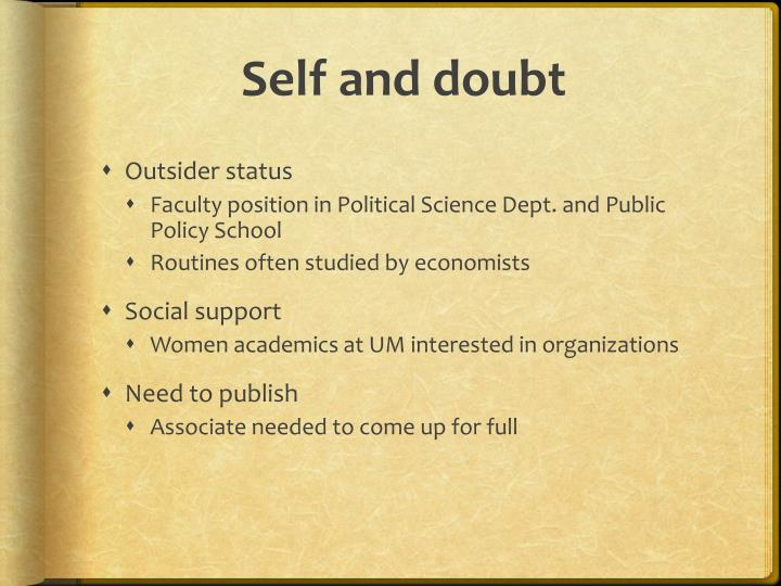 Self and doubt