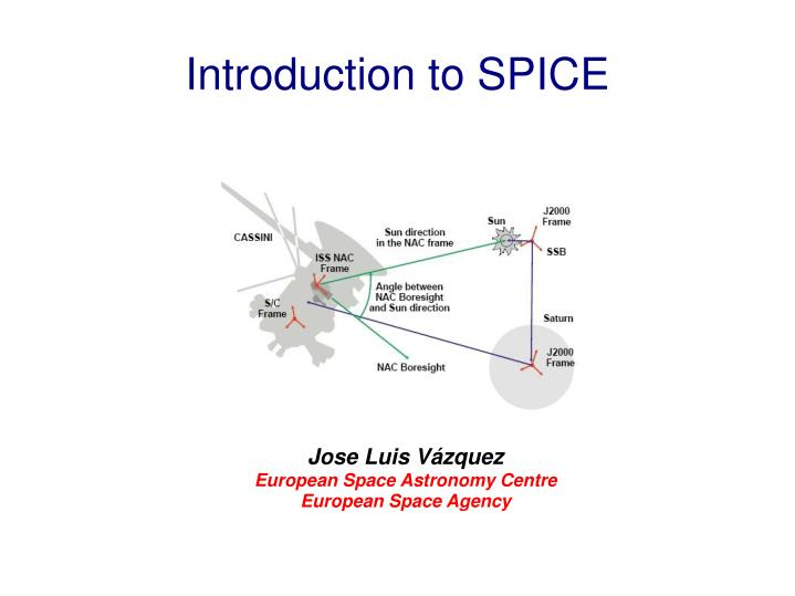 Jose luis v zquez european space astronomy centre european space agency