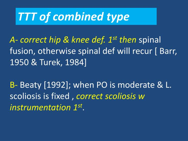 TTT of combined type