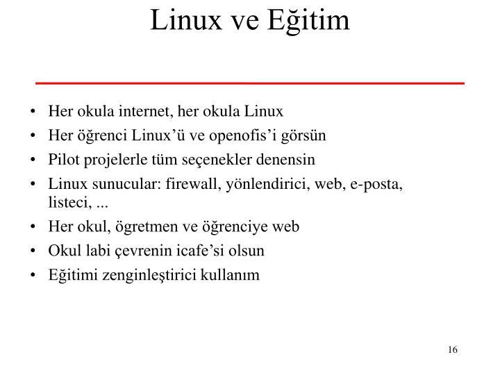 Linux ve Eğitim