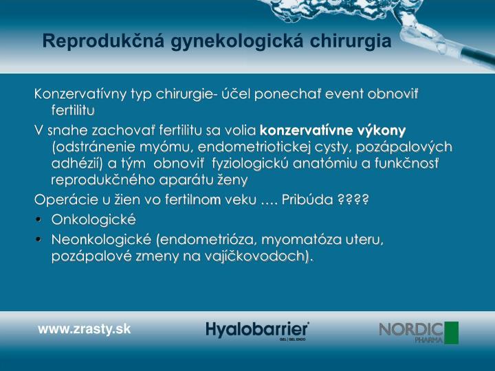Reprodukčná gynekologická chirurgia