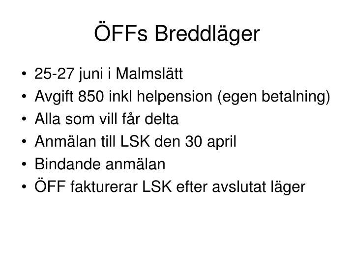 ÖFFs Breddläger