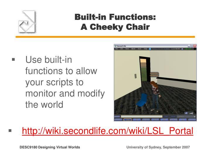 Built-in Functions: