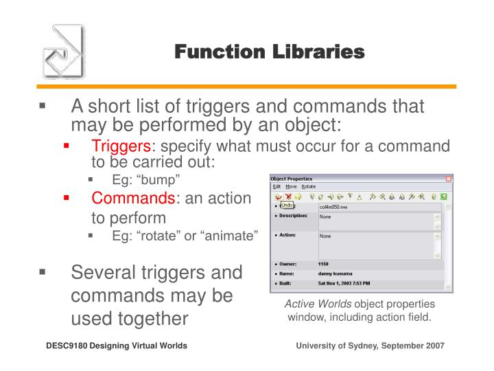 Function Libraries