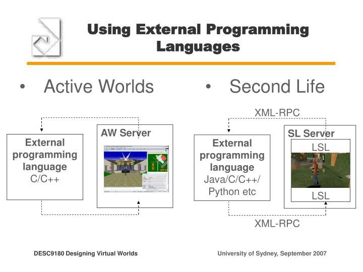 Using External Programming Languages