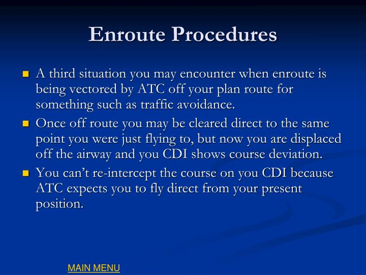 Enroute Procedures