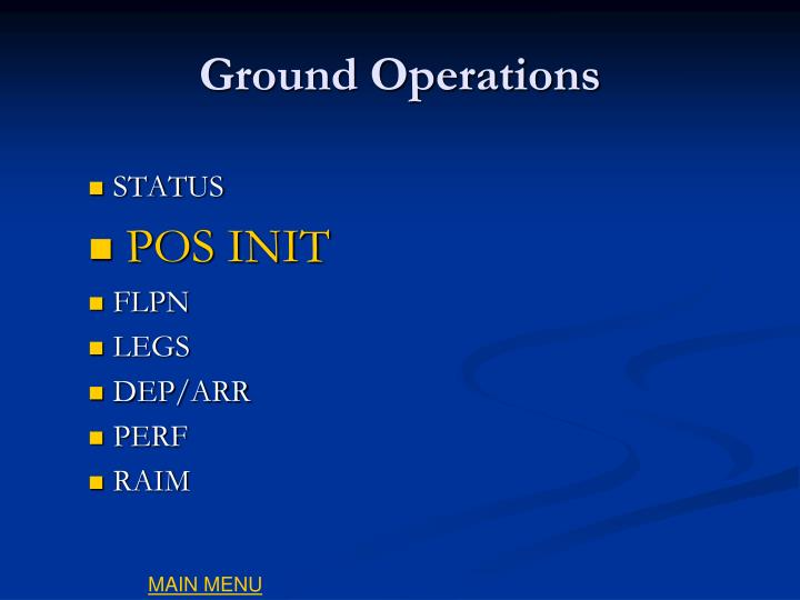 Ground Operations