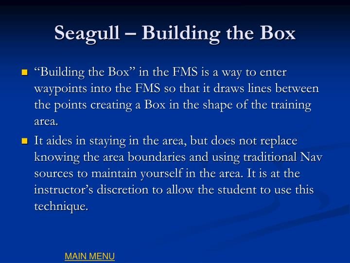 Seagull – Building the Box