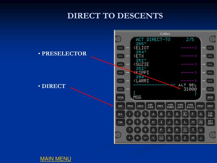 DIRECT TO DESCENTS