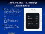 terminal area removing discontinuities1