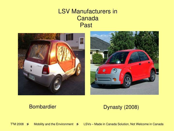 LSV Manufacturers in Canada