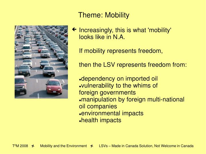 Theme: Mobility