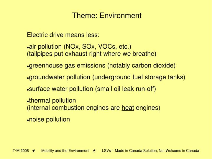 Theme: Environment