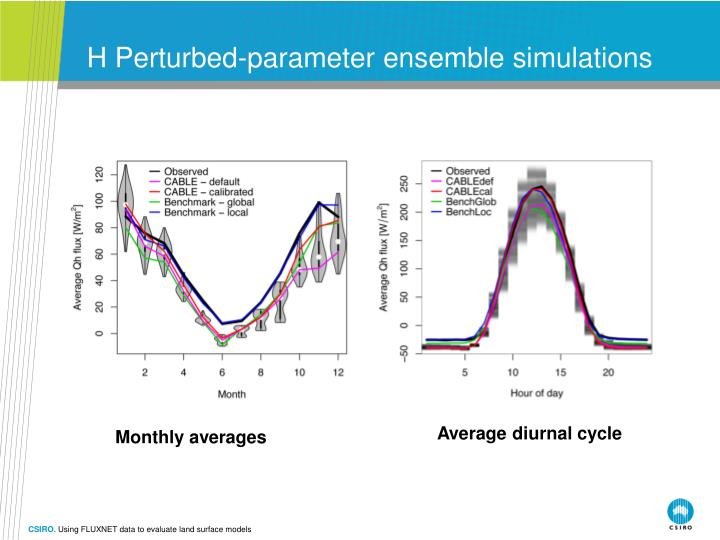 H Perturbed-parameter ensemble simulations