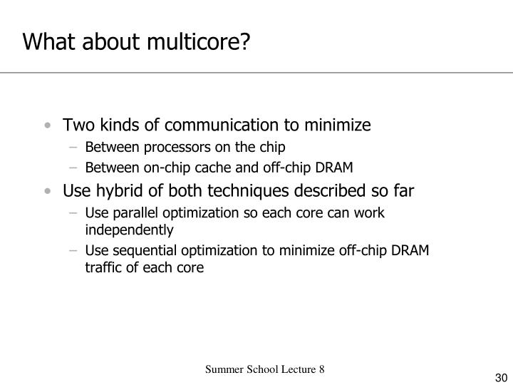 What about multicore?