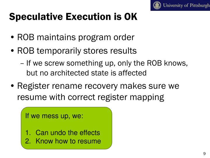 Speculative Execution is OK