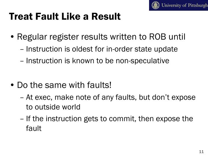 Treat Fault Like a Result