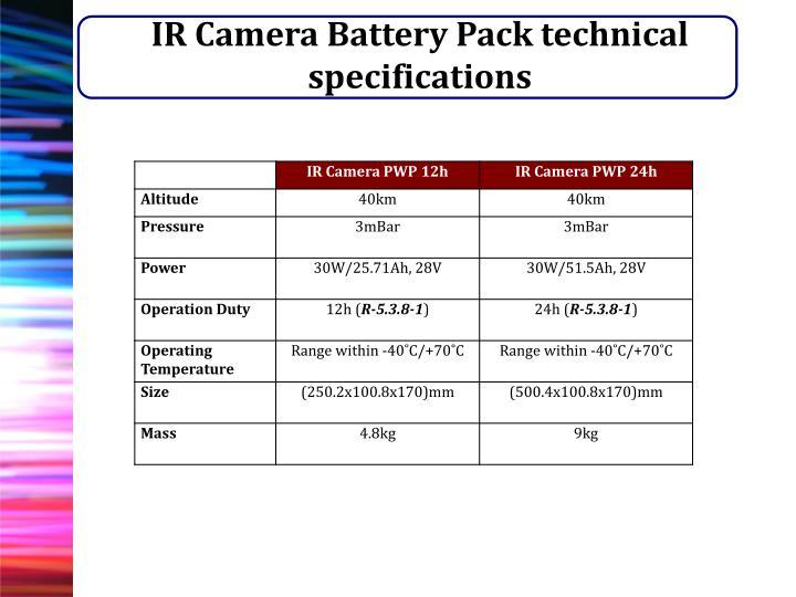 IR Camera Battery Pack technical