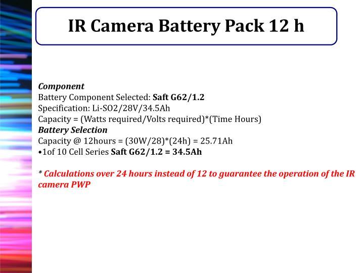 IR Camera Battery Pack 12 h