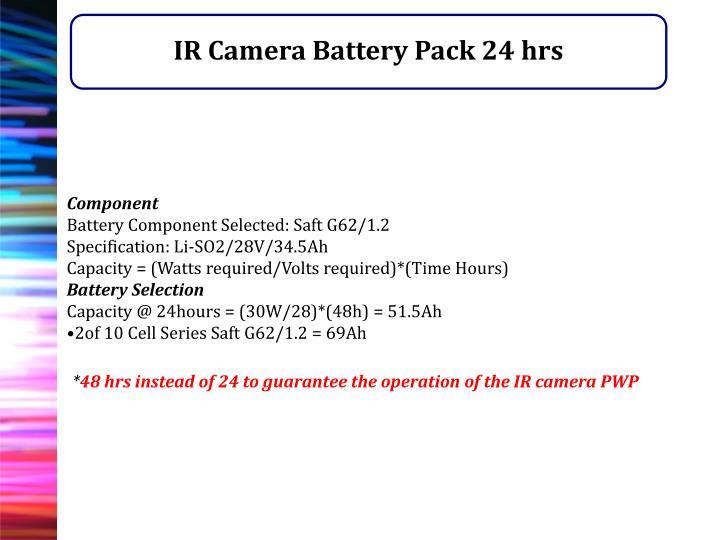 IR Camera Battery Pack 24 hrs