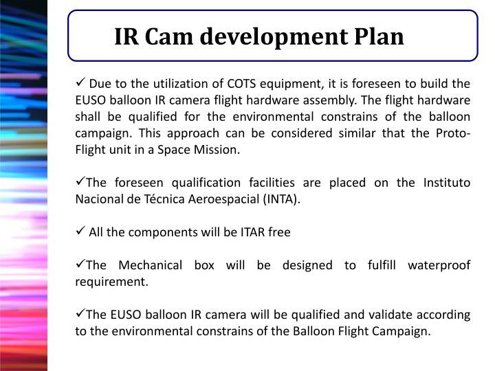 IR Cam development Plan