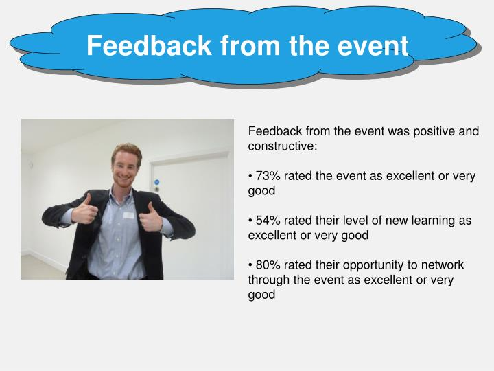 Feedback from the event