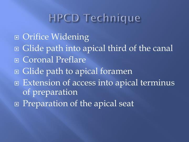 HPCD Technique