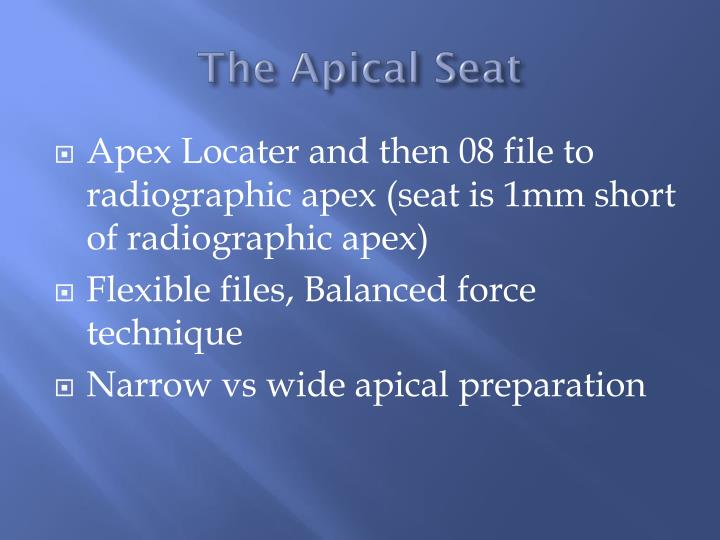 The Apical Seat