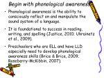 begin with phonological awareness