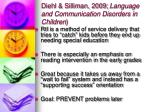 diehl silliman 2009 language and communication disorders in children