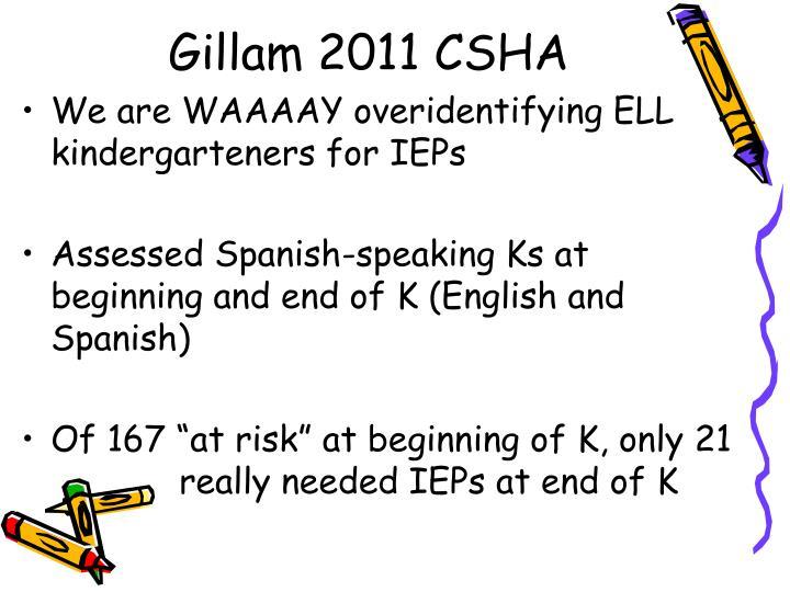 Gillam 2011 CSHA
