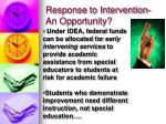 response to intervention an opportunity