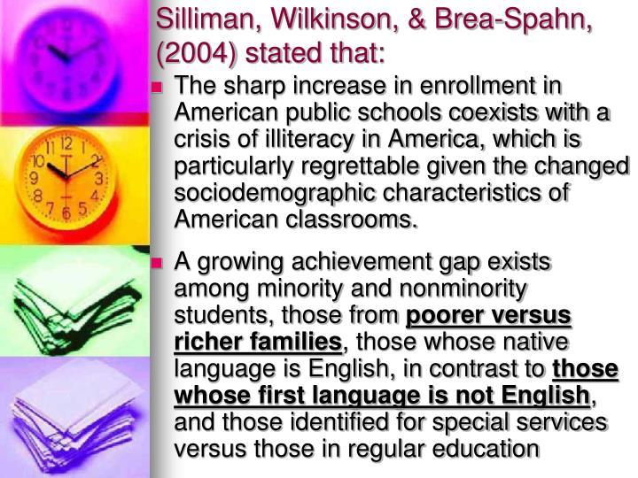 Silliman, Wilkinson, & Brea-